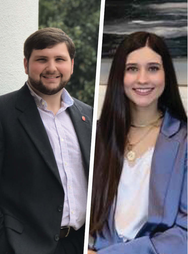 Department of Political Science Student Ambassadors, Amy Cain and Josh Mannery